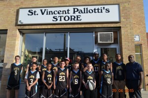 The teams collected food and clothing for the St. Vincent Pallotti's Kitchen